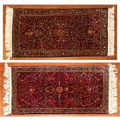 Pair of SemiAntique Sarouk Rugs Persia 2 x 3