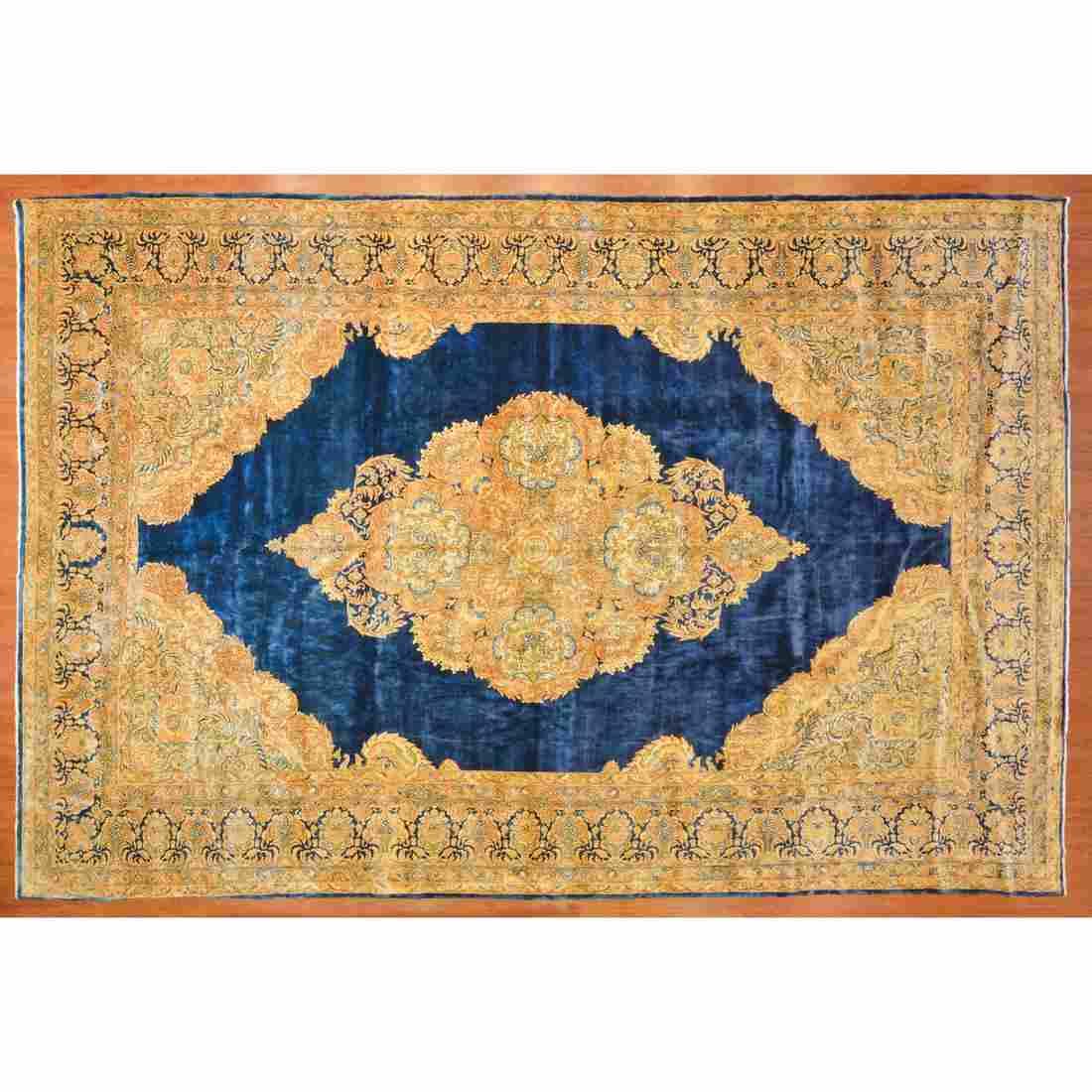 Semi-Antique Kerman Carpet, Persia, 11 x 17