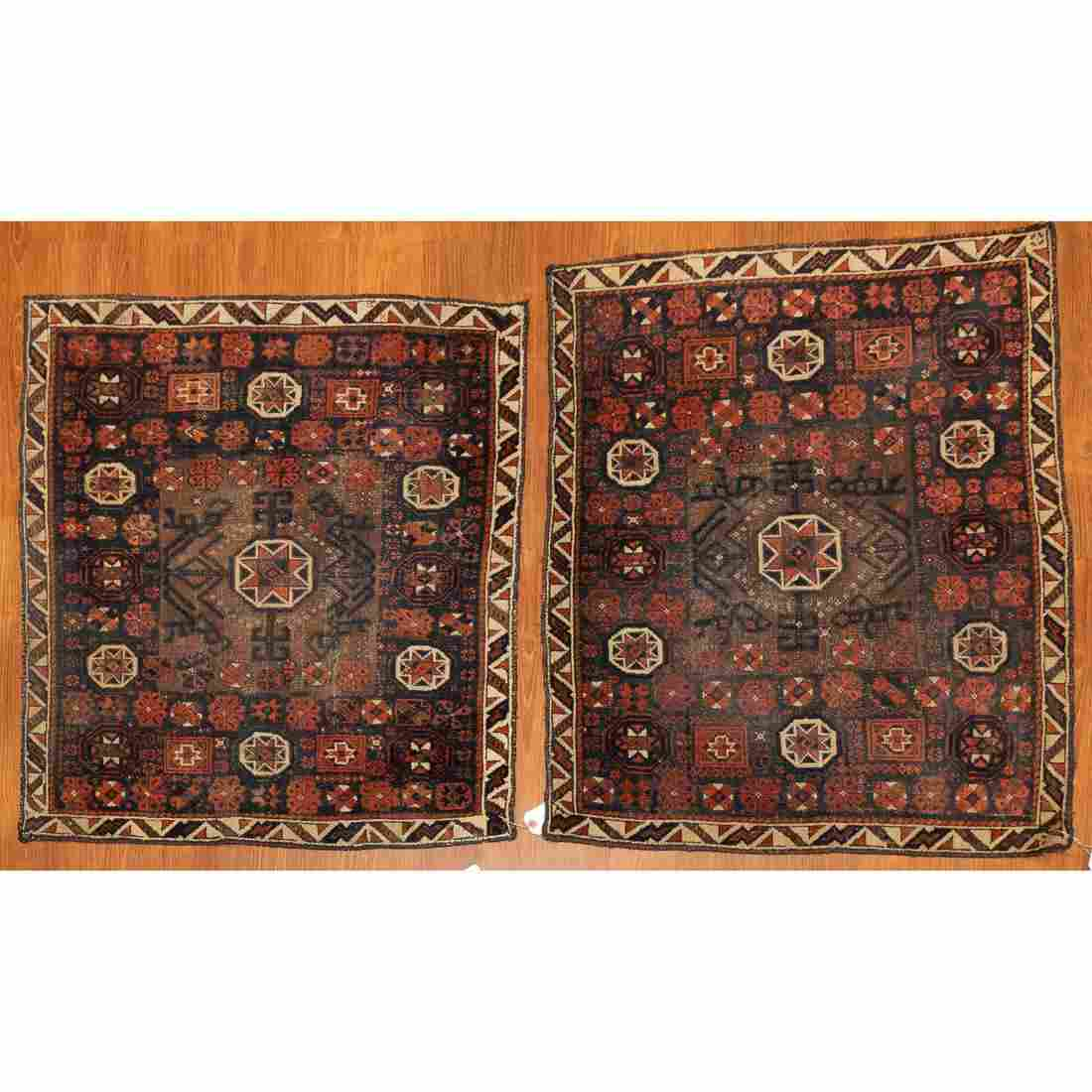 Pair Semi-Antique Belouch Tribal Rugs, 2.7 x 3.2