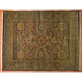 Indo Agra Carpet, India, 9 x 11.9