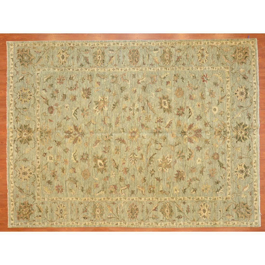 Indo Oushak Carpet, India, 9.3 x 12.2