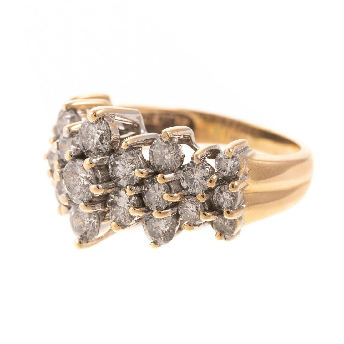 A 2.50 ctw Diamond Cluster Ring in 14K