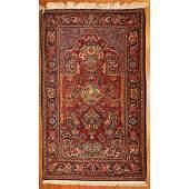 SemiAntique Kashan Rug Persia 43 x 67