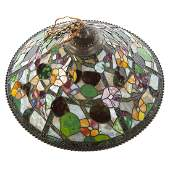 Dale Tiffany Leaded Glass Hanging Light Fixture