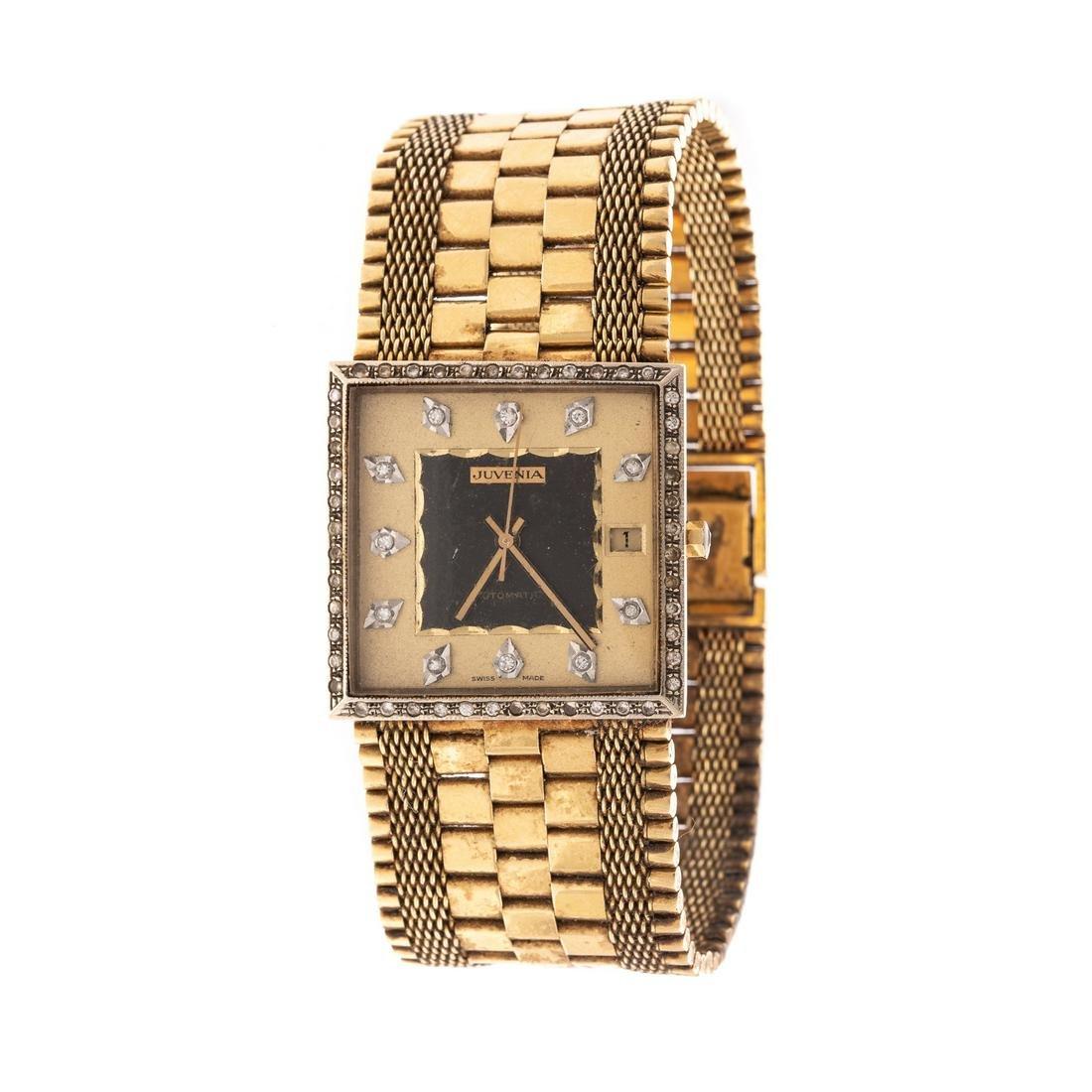 A Vintage Juvenia 18K Diamond Wrist Watch