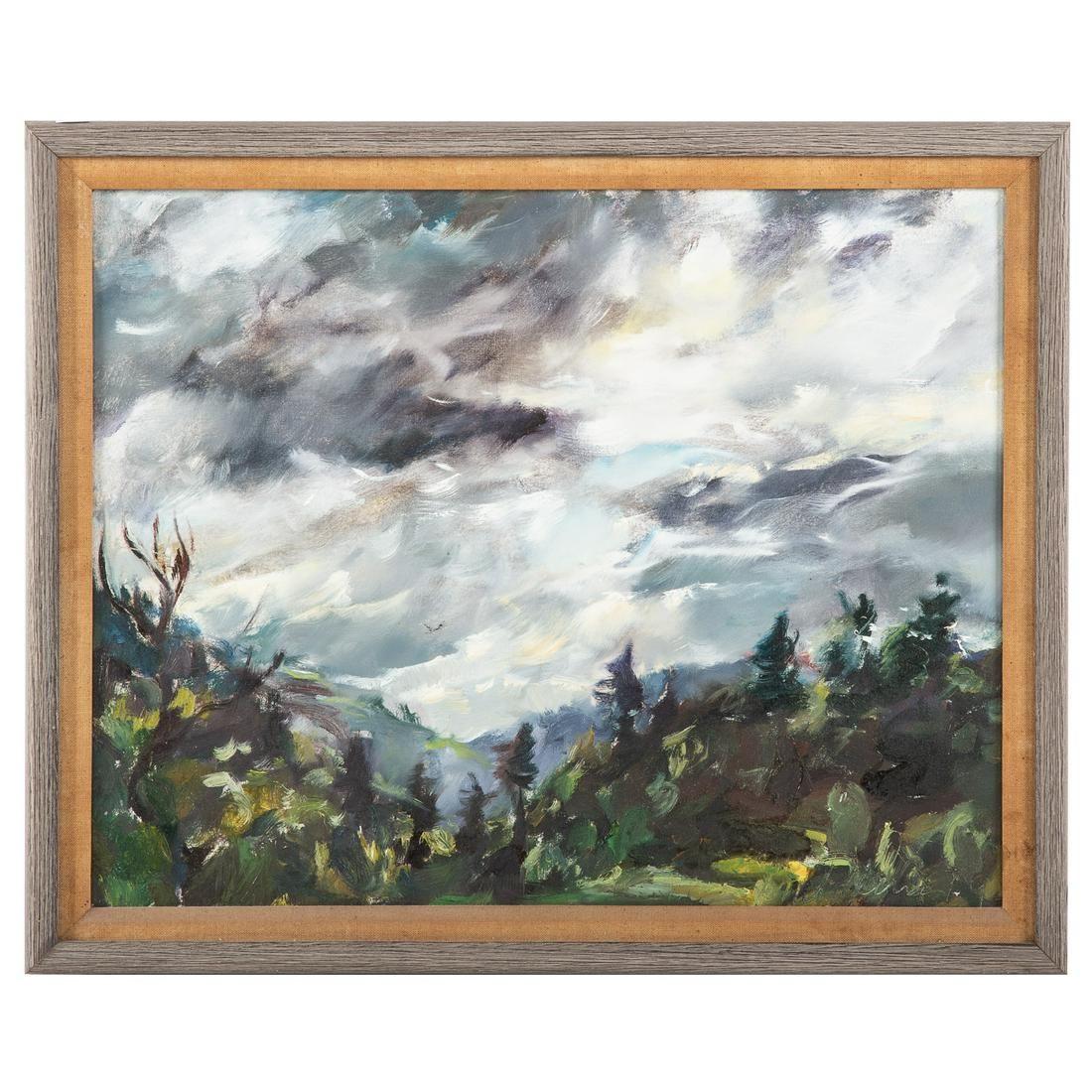 Raoul Middleman. Turbulent Landscape, oil