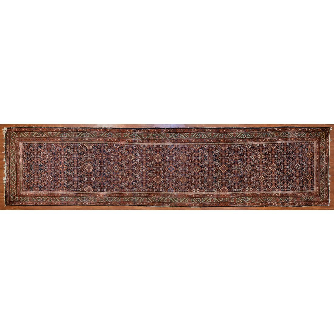 Semi-Antique Hamadan Runner, Persia, 3.8 x 16.2