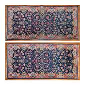Pair of Semi-Antique Kerman Rugs, Persia, 2 x 4