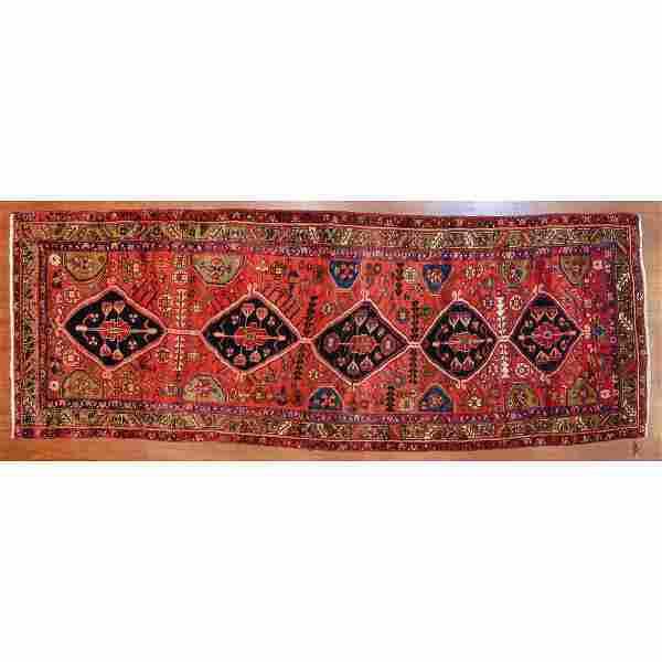 Semi-Antique Heriz Runner, Persia, 10.9 x 4