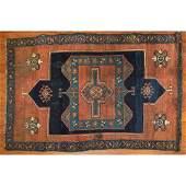 Antique Kurdish Double Prayer Rug, 4 x 6