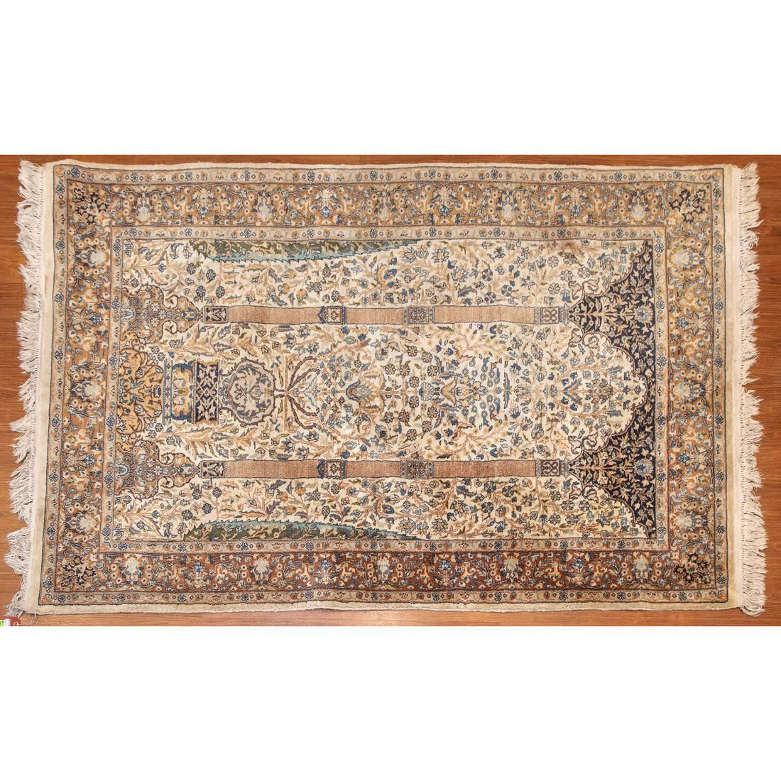 Tabriz Prayer Rug, Persia, 4.1 x 6.4