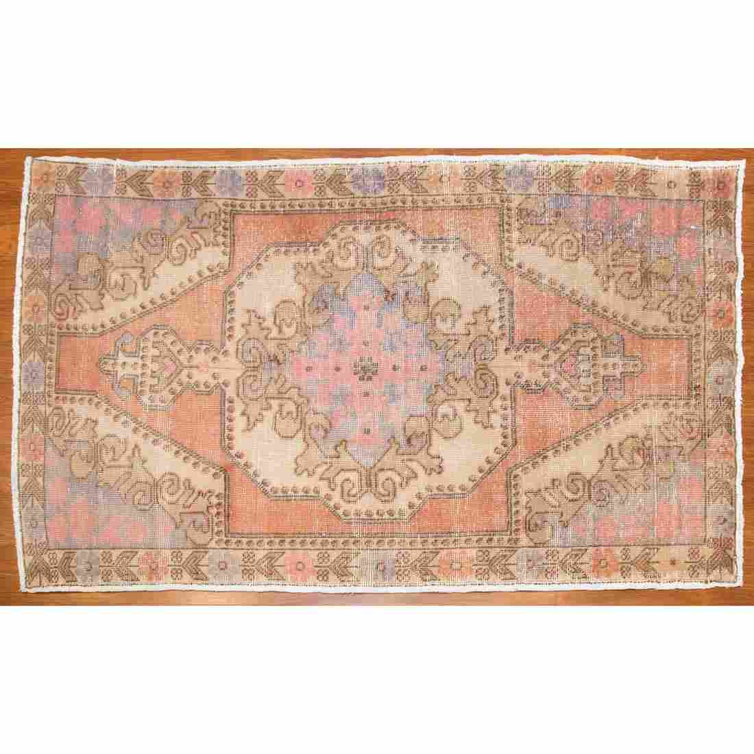 Semi-Antique Oushak Rug, Turkey, 4.6 x 7.3