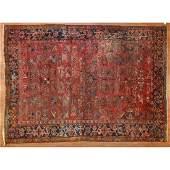 Antique Heriz Rug, Persia, 7.6 x 10.9