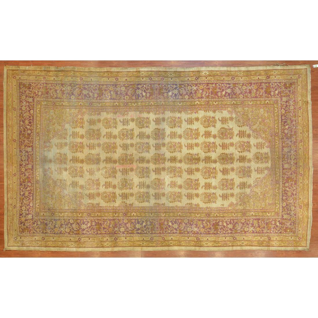 Antique Amritsar Rug, India, 8.10 x 15
