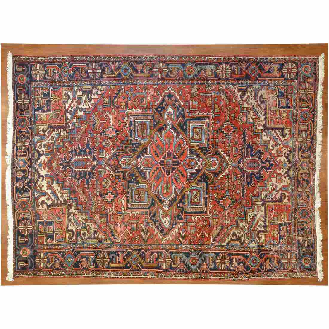 Semi-Antique Heriz Rug, Persia, 7.11 x 10.9