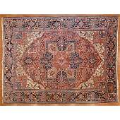 Semi-Antique Heriz Rug, Persia, 9 x 11.9