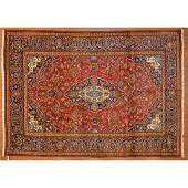 Kashan Rug, Persia, 8.1 x 11.4
