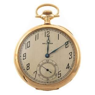 A 14K Antique Waltham Pocket Watch