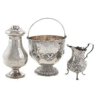 Three Pieces English and Continental Hollowware