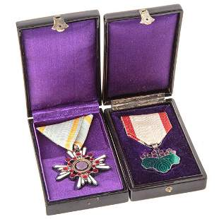 Two WW II Japanese Medals