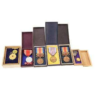Six Assorted Japanese Medals