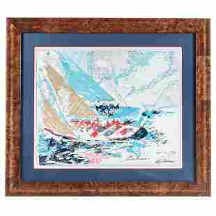 "LeRoy Neiman. ""America's Cup 1964,"" lithograph"