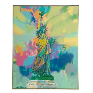 Leroy Neiman. Statue of Liberty, color serigraph