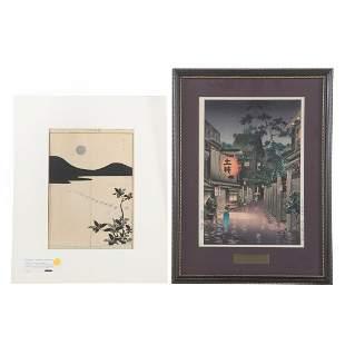 Tsuchiya Koitsu & Kaigai Tennen. Two woodblocks