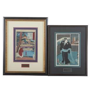 Tsukioka Yoshitoshi and Toyokuni III, Two woodblocks
