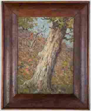 Clark Summers Marshall. Study of a Tree, oil