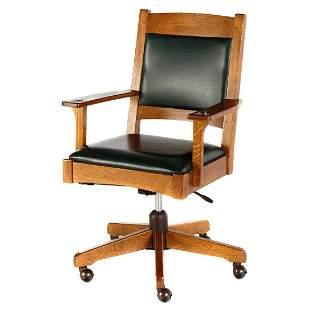L.& J.G. Stickley Mission Oak Desk Chair