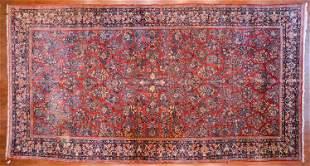 Antique Sarouk Carpet, Persia, 10.8 x 19.10