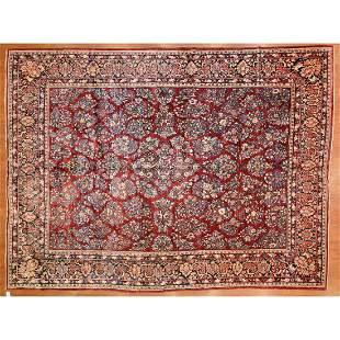 Antique Sarouk Carpet, Persia, 10.2 x 13.4