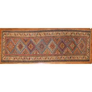 Antique Kazak Rug, Persia, 3.9 x 10.2