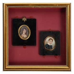 Pair of Continental Portrait Miniatures