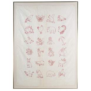 American Cotton Embroidered Crib Quilt