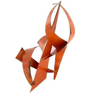 Modernist Metal Abstract Sculpture