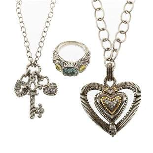 A Collection of Judith Ripka Sterling Jewelry