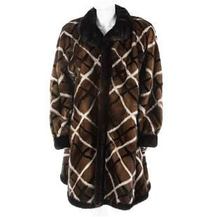 A Christian Dior Fourrure Plaid Mink Coat