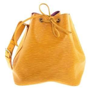 A Louis Vuitton Yellow Epi Noe PM