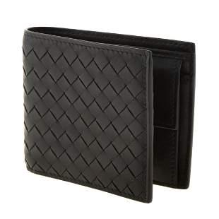 A Bottega Veneta Intrecciato Weave Bifold Wallet