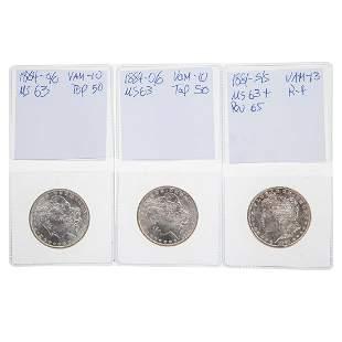 Three MS63 Morgan Dollar VAMs