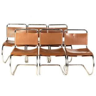 Six MR Ludwig Mies Van Der Rohe Chairs For Thonet