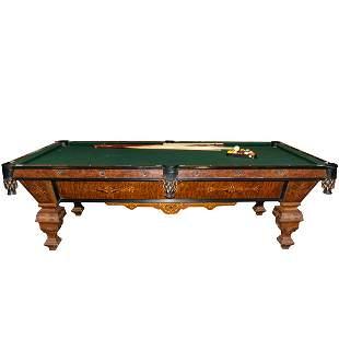 Brunswick Victorian Style Monarch Billiards Table