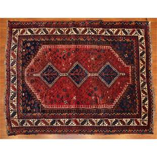 Semi-Antique Shiraz Rug, Persia, 5.7 x 6.9