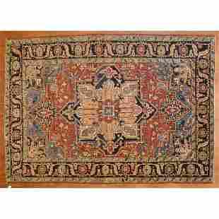 Antique Heriz Rug, Persia, 7.10 x 11