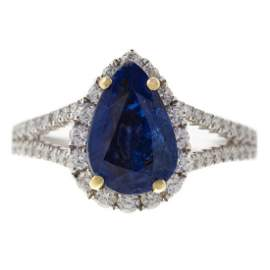 An Impressive GIA Unheated Kashmir Sapphire Ring
