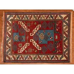 Semi-Antique Turkish Prayer Rug, 3.7 x 5.4