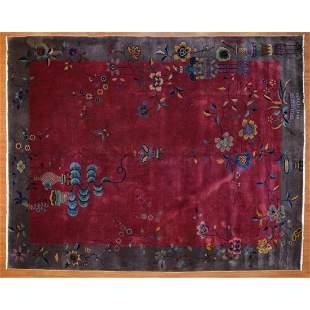 Antique Nichols Rug, China, 8.11 x 11.3