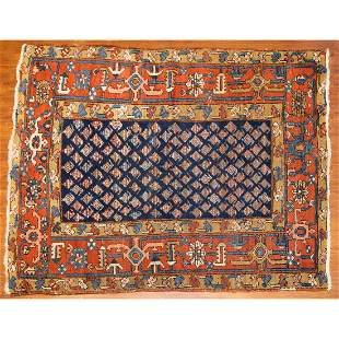 Antique Karaja Rug, Persia, 4.7 x 5.10
